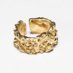 Χειροποίητο Δαχτυλίδι από ασήμι με επιχρύσωση