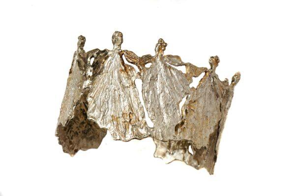 Χειροποίητο Βραχιόλι Μινωικές Φιγούρες-Σειρά Χορός- Ασήμι 925