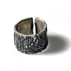 Χειροποίητο Δαχτυλίδι Δάσος από ασήμι 925 με τεχνική οξείδωσης