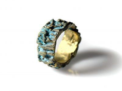 Χειροποίητο Δαχτυλίδι Κομήτης από οξειδωμένο ορείχαλκο