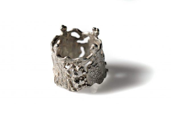 Χειροποίητο Δαχτυλίδι Νύμφες - από τη σειρά χορός - κατασκευασμένο από ασήμι 925