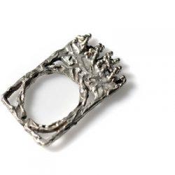 Χειροποίητο Δαχτυλίδι Θρόνος κατασκευασμένο από ασήμι