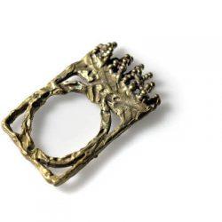 Χειροποίητο Δαχτυλίδι Θρόνος κατασκευασμένο από ορείχαλκο