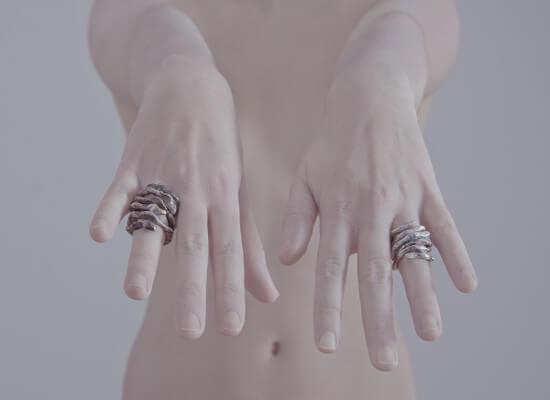 Χειροποίητο Δαχτυλίδι Φίδι από οξειδωμένο ασήμι