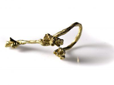 Χειροποίητο Δαχτυλίδι Κρίνα από ορείχαλκο