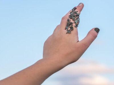 Χειροποίητο Δαχτυλίδι Τιτάνες από ορείχαλκο