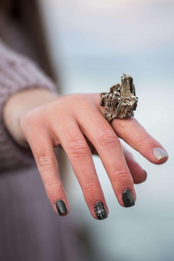 Χειροποίητο Δαχτυλίδι Βράχος από ασήμι