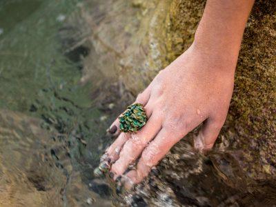 Χειροποίητο Δαχτυλίδι Βράχος από ορείχαλκο