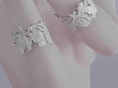 Χειροποίητο Βραχιόλι Γυναίκες Άγγελοι κατασκευασμένο από ασήμι.