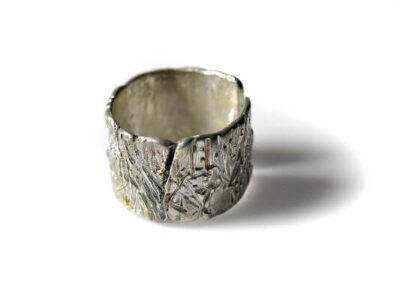 Χειροποίητο Δαχτυλίδι Δάσος κατασκευασμένο από ασήμι