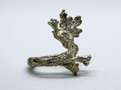 Χειροποίητο Δαχτυλίδι Γοργόνα από ασήμι