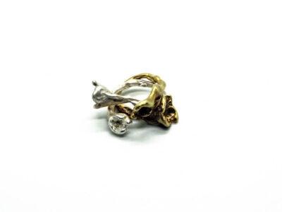 Χειροποίητο Δαχτυλίδι Ορτανσία από ασήμι 925 και ορείχαλκο