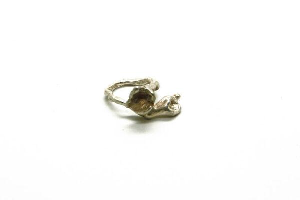 Χειροποίητο Δαχτυλίδι Ορτανσία από ασήμι 925