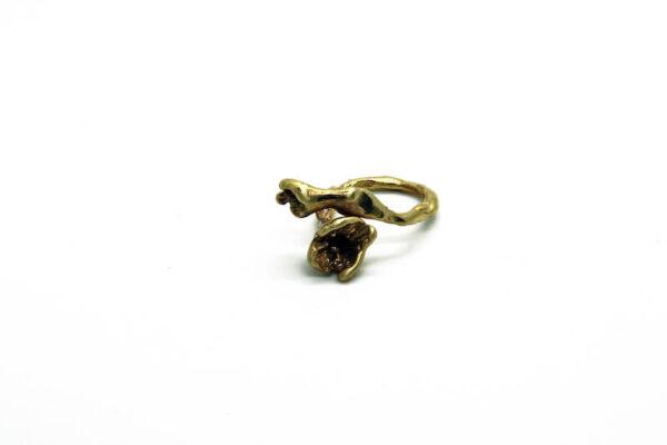 Χειροποίητο Δαχτυλίδι Ορτανσία από ορείχαλκο