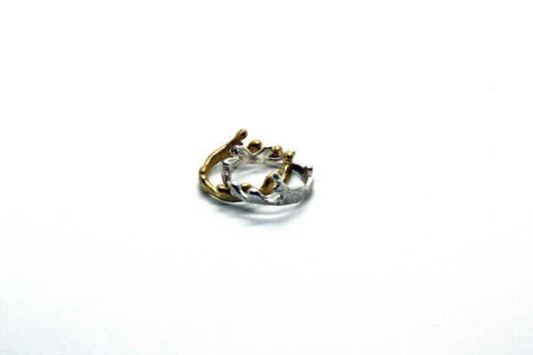 Χειροποίητο Δαχτυλίδι Στέμμα από ασήμι και ορείχαλκο