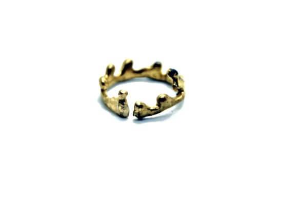 Χειροποίητο Δαχτυλίδι Στέμμα από ορείχαλκο