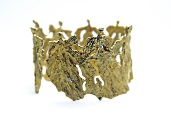 Χειροποίητο Βραχιόλι Γυναίκες Άγγελοι κατασκευασμένο από ορείχαλκο.