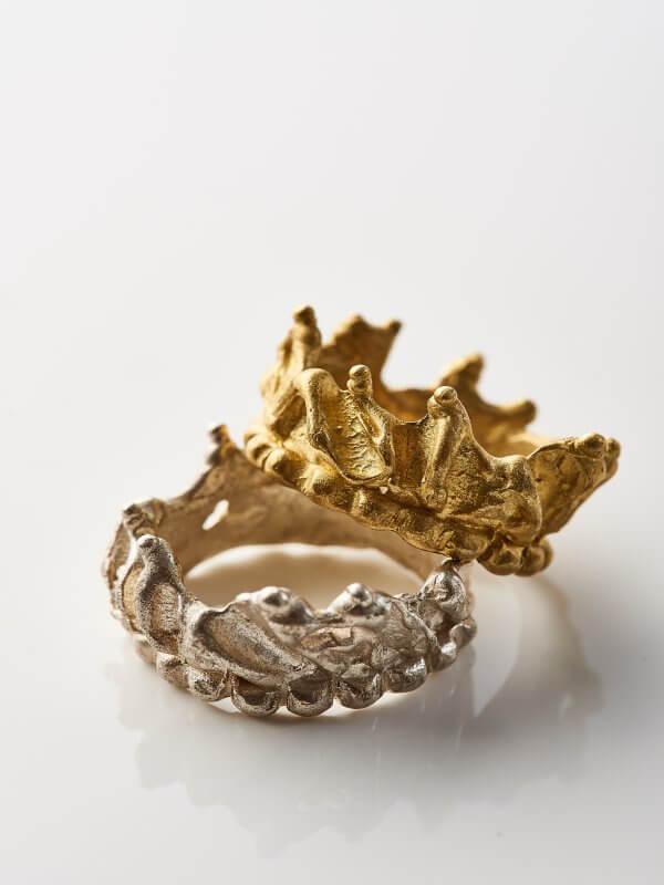 Χειροποίητο Δαχτυλίδι Αρετούσα από ασήμι και ορείχαλκο