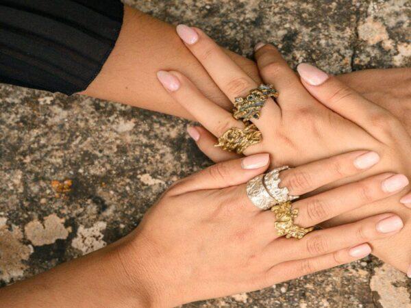 Χειροποίητο Δαχτυλίδι Ελίκη από ορείχαλκο