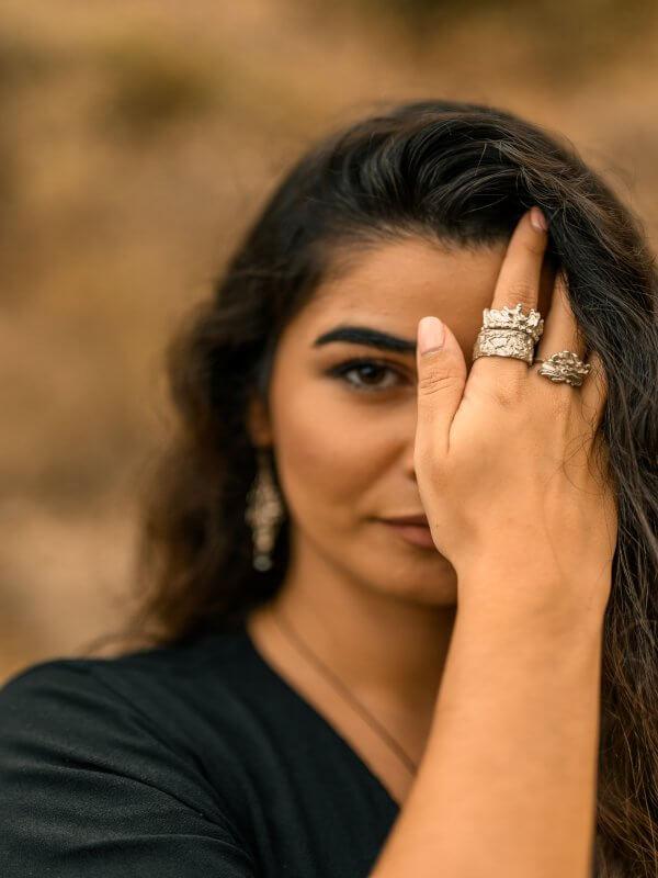 Χειροποίητο Δαχτυλίδι Άγγιγμα από ασήμι