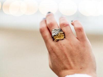 Χειροποίητο Δαχτυλίδι Άγγιγμα από ασήμι και ορείχαλκο