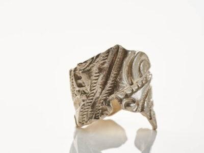 Χειροποίητο Δαχτυλίδι Γεωμετρική Αντανάκλαση από ασήμι