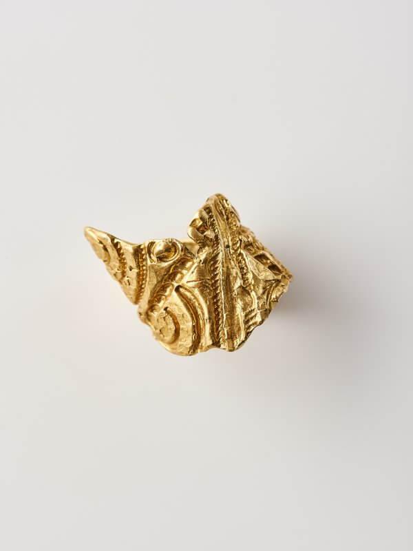 Χειροποίητο Δαχτυλίδι Γεωμετρική Αντανάκλαση από ορείχαλκο
