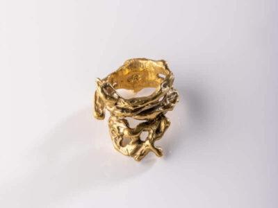 Χειροποίητο Δαχτυλίδι Πλούτωνας από ορείχαλκο
