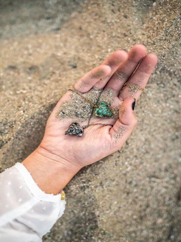 Χειροποίητο Κρεμαστό Αμφορέας από ασήμι και ορείχαλκο